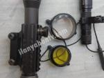 Vomz 4-12×50 tüfek dürbünü+optima led 2 fener